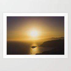 Secret sunset Art Print