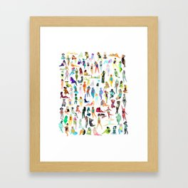 100 tiny ladies Framed Art Print