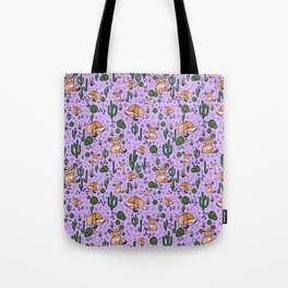 Fennec Foxes in Purple Tote Bag