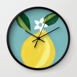 Meyer Lemon Wall Clock