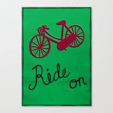 Ride On Canvas Print