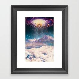 Descending worlds Framed Art Print