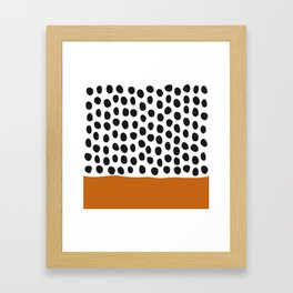 Classy Handpainted Polka Dots with Autumn Maple Framed Art Print