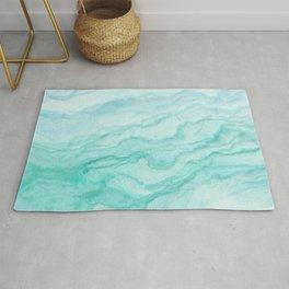Ocean Blue Marble Texture Rug