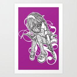 gangster girl Art Print