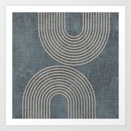 Grunge Texture Minimalist Art Print
