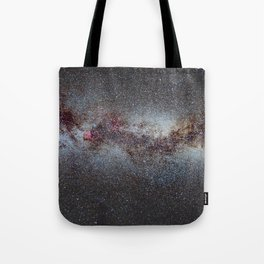 The Milky Way from Scorpio Antares and Sagitarius to North America Nebula in Cygnus Tote Bag