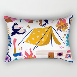 Camping Kit – Rainbow Palette Rectangular Pillow
