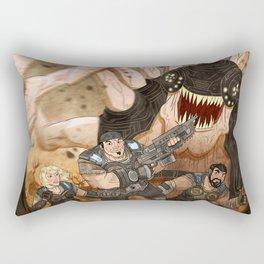 RUN GEARS RUN Rectangular Pillow