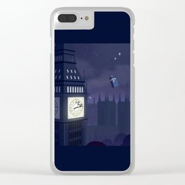 Second Star to the Right, Straight on to Gallifrey Clear iPhone Case