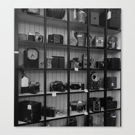 Cameras in a Thrift Store Canvas Print