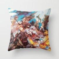 final fantasy Throw Pillows featuring Final Fantasy by Tamika