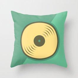 Vinyl records icon illustration Throw Pillow