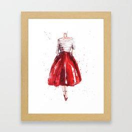 Red skirt / red lips Framed Art Print