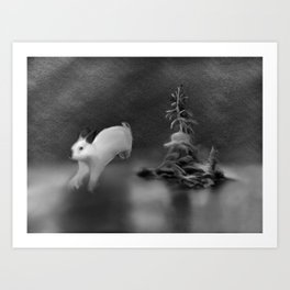 Rabbit dream Art Print