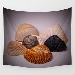 Different color shell Wall Tapestry