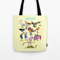 ducks Tote Bags featuring Ducks by Natelle Quek