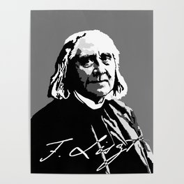 Franz Liszt (1811-1886) in 1886 (digital 1) Poster