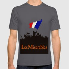 Les Miserables SMALL Mens Fitted Tee Asphalt