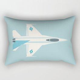 F-16 Falcon Fighter Jet Aircraft - Sky Rectangular Pillow