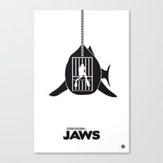 The Black Collection' Jaws Canvas Print