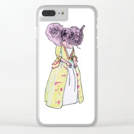 Madame Elephant Clear iPhone Case