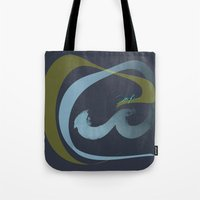 rush Tote Bags featuring Rush  by Sammy Cee