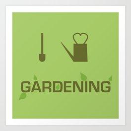 I heart Gardening Art Print