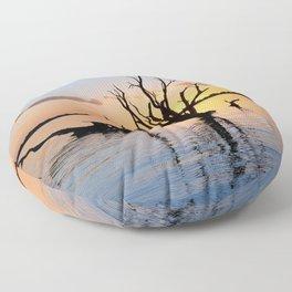 Sunset Silhouette Floor Pillow