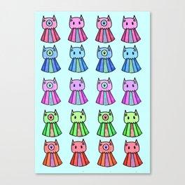 Emotion Ocean 5: Cat Jellies Canvas Print