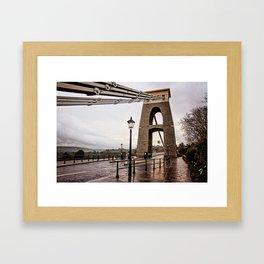 Bristol- Clifton Suspension Bridge Close-up Framed Art Print