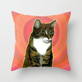 Pablo Cat Throw Pillow