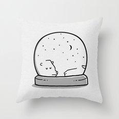 Snowglass Throw Pillow
