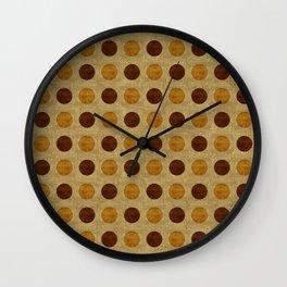 """""""Vintage Polka Dots"""" Wall Clock"""