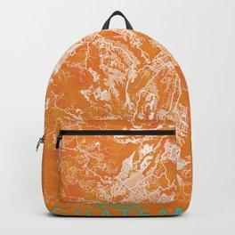 Guatemala City, Guatemala, Gold, Blue, City, Map Backpack