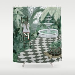 Red Balloon Shower Curtain