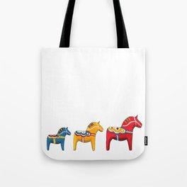 Dala horses Tote Bag