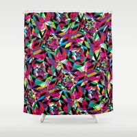 kaleidoscope Shower Curtains featuring KALEIDOSCOPE by Bianca Lopomo