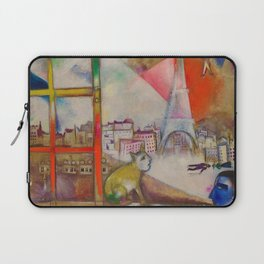 'Paris Through the Window' by Marc Chagall Laptop Sleeve