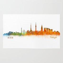 Tokyo City Skyline Hq V2 Rug