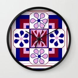 Daisy Quilt Wall Clock