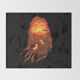 The Lion King - Into The Wild Throw Blanket