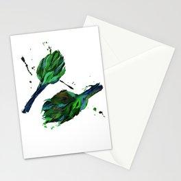 Artichoke #1 and artichoke #2 Stationery Cards