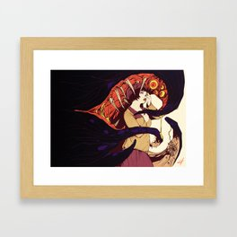 Leah and the Monster Framed Art Print