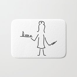 nurse in the hospital with syringe and medicine Bath Mat