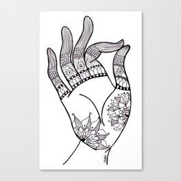 chin mudra Canvas Print