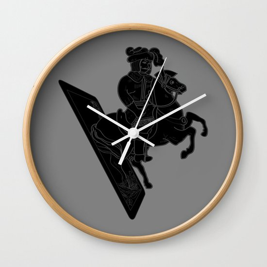 LAST CARD IN THE DECK BLACK Wall Clock