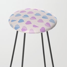AFE Abstract Heart Shapes Counter Stool