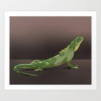 lizard Art Prints featuring lizard by ErsanYagiz