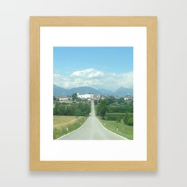 The Trick Is to Keep Going Up Framed Art Print